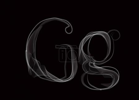 Haze font type letters GG