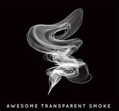 Vector abstract transparent smoke on black background