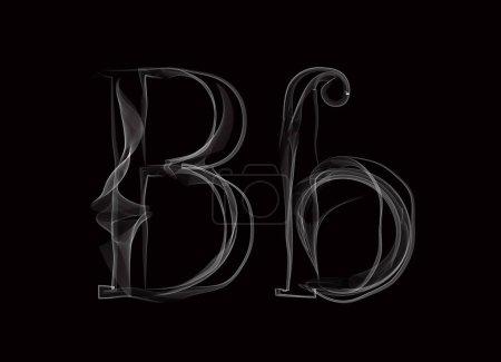 Haze font type letters BB