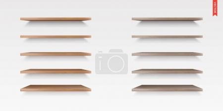 Set of Wood Shelves