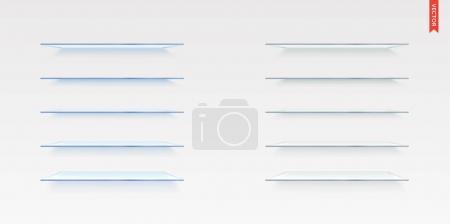 Set of Glass Shelves