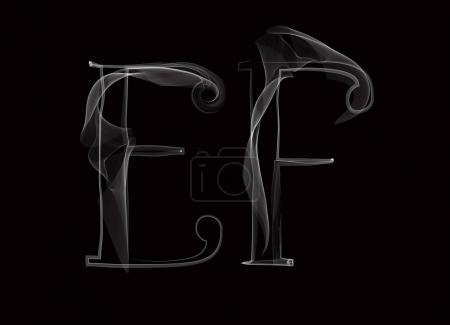 Haze font type letters EF
