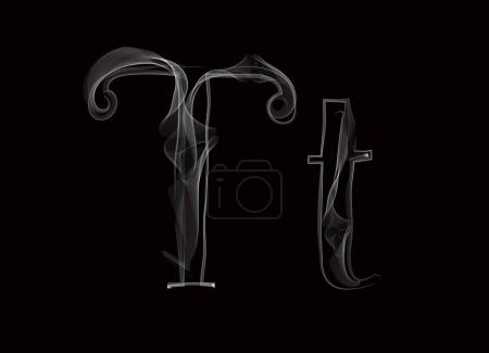 Haze font type letters TT