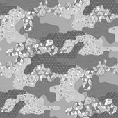 Abstract camouflage seamless pattern Trendy fabric design in silver colors