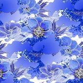 Abstract anemone pattern