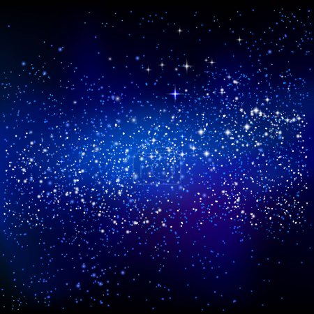 Illustration for Outer space starry design. Vector astronomic background - Royalty Free Image