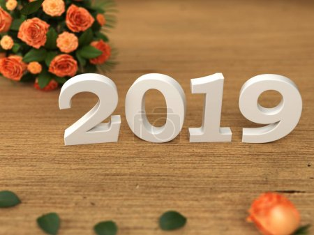 Photo for New Year 2019 - 3D Rendered Image - Royalty Free Image