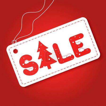 Big winter sale poster. Discount tag sticker. Mega retail sale banner. Christmas sale.