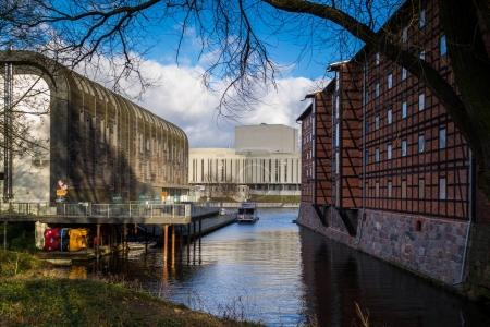 Mill Island - a historic island in the Old Town of Bydgoszcz, Poland