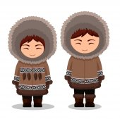 Eskimos in national clothes