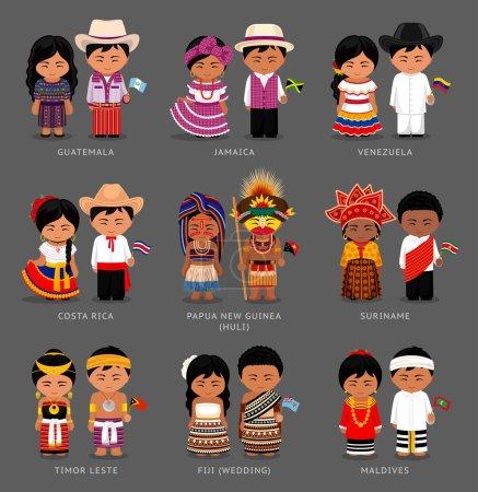 Guatemalans, Surinamese, Costa Ricans, Venezuelans, Jamaicans, Fijians, Huli tribe. People from Papua New Guinea, Maldives, Timor Leste.