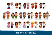 Americans in national clothes North America