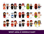 Asians in national dress West Asia and Middle East