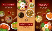 Asian food Set of vertical web banners