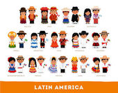 Latin Americans in national clothes
