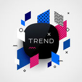 Trendy vector background Different geometric patterns and shapes Design template for brochure presentation or baner Trend label