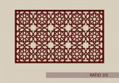 Geometric ornament The template pattern for decorative panel A picture suitable for paper cutting printing laser cutting or engraving wood metal Stencil manufacturing Vector