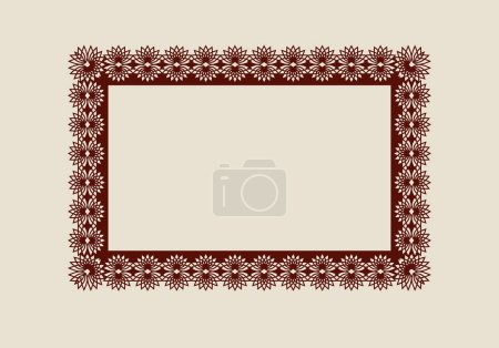 Abstract carved square frame