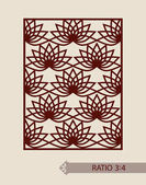 Geometric ornament The template pattern for decorative panel A picture suitable for printing engraving laser cutting paper wood metal stencil manufacturing Vector