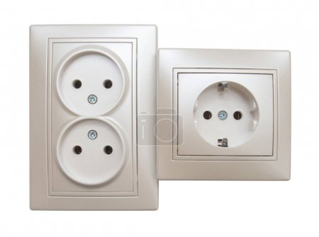 Single and double electrical outlet