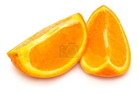 Photo pour Tranches de fruits orange isolés sur fond blanc - image libre de droit