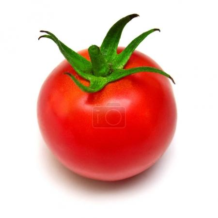 Tomato whole isolated on white background. Tasty and healthy foo