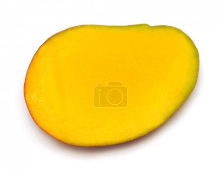 Half of mango isolated on a white background, mango sectional