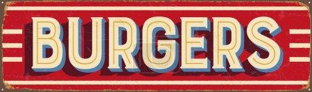 Vintage metal sign - Burgers