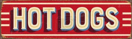 Vintage metal sign - Hot Dogs