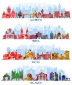 Luxembourg Helsinki Monaco and Wellington