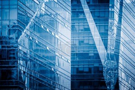 Photo pour Plan de détail de la façade de l'architecture moderne, concepts d'affaires, dans la ville de Chine . - image libre de droit