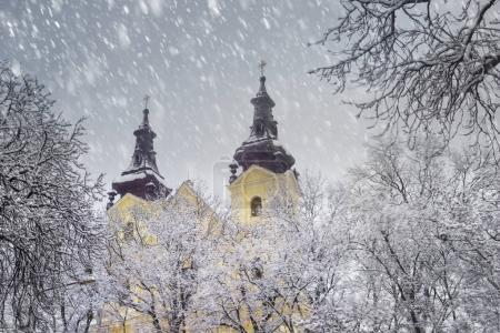 Snowy Christmas in Lviv