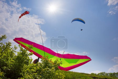 paragliding sport in the sky