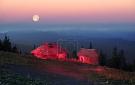 Magic house in mountains