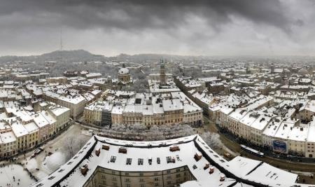 Snowy Christmas in Lviv
