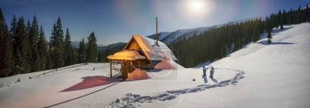 Habitation of shepherds in Carpathians mountains