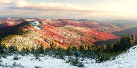 Carpathian mountains in autumn
