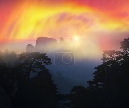 Crimean Rocks dawn sunrise