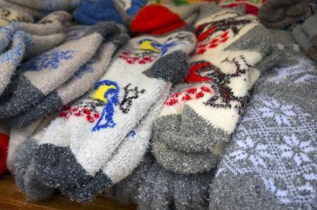 Children's mittens for Christmas