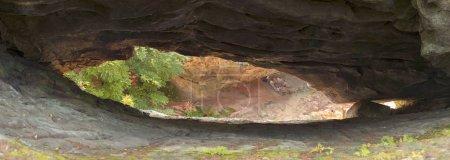 Hawkeye rock in Carpathians