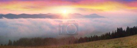 Morning in the Carpathian top