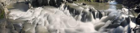 Yaremche waterfall after heavy rains