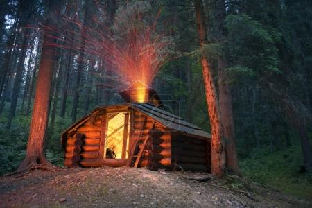 Fire house in the mountains