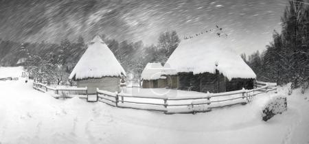 Snowfall in Pirogovo museum