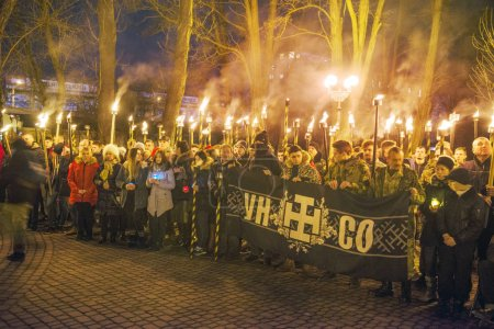 memorial procession with torches