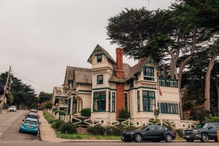 Small private house in the city of Monterey, California, USA. August 10, 2017.