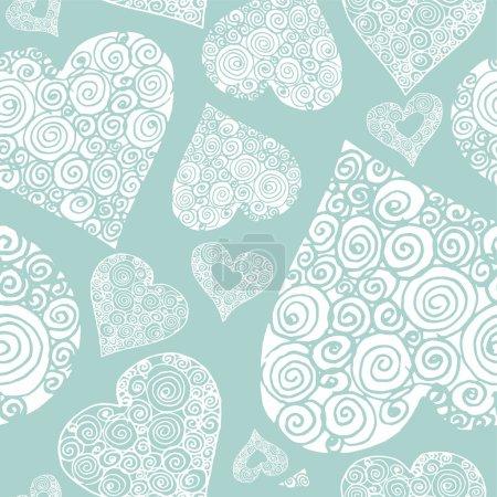 Happy Valentines day seamless pattern