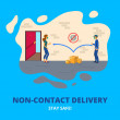 Non-contact delivery. Covid-19. Coronavirus secure...