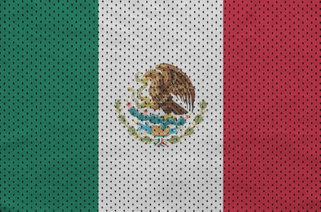 Mexico flag printed on a polyester nylon sportswear mesh fabric