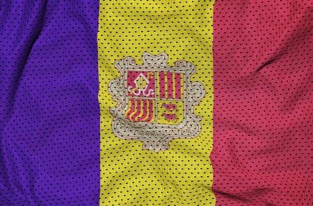 Andorra flag printed on a polyester nylon sportswear mesh fabric